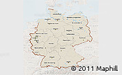Shaded Relief 3D Map of Germany, lighten