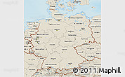Shaded Relief 3D Map of Germany