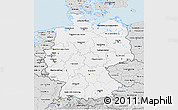 Silver Style 3D Map of Germany