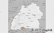 Gray 3D Map of Baden-Württemberg