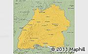 Savanna Style 3D Map of Baden-Württemberg