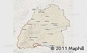Shaded Relief 3D Map of Baden-Württemberg, lighten