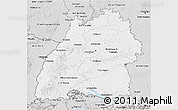 Silver Style 3D Map of Baden-Württemberg