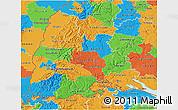 Political 3D Map of Freiburg