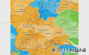 Political Shades 3D Map of Freiburg