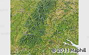 Satellite 3D Map of Freiburg