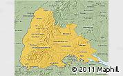 Savanna Style 3D Map of Freiburg
