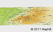 Physical Panoramic Map of Breisgau-Hochschwarzwald