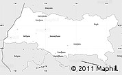 Silver Style Simple Map of Emmendingen