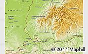 Physical Map of Lörrach