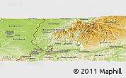 Physical Panoramic Map of Lörrach