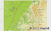 Physical 3D Map of Ortenaukreis