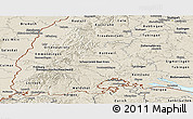 Shaded Relief Panoramic Map of Freiburg