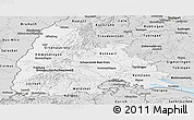 Silver Style Panoramic Map of Freiburg