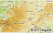 Physical 3D Map of Schwarzwald-Baar-Kreis