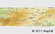 Physical Panoramic Map of Schwarzwald-Baar-Kreis