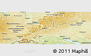 Physical Panoramic Map of Tuttlingen