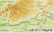 Physical 3D Map of Waldshut
