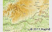 Physical Map of Waldshut
