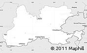 Silver Style Simple Map of Waldshut
