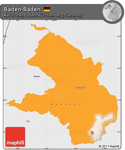 Map Of Germany Karlsruhe Baden.Free Political Simple Map Of Baden Baden Single Color Outside