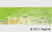 Physical Panoramic Map of Enzkreis