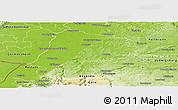 Physical Panoramic Map of Karlsruhe