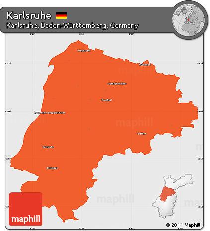 Map Of Germany Karlsruhe Baden.Free Political Simple Map Of Karlsruhe Single Color Outside
