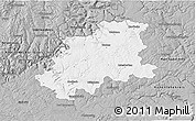 Gray 3D Map of Neckar-Odenwald-Kreis