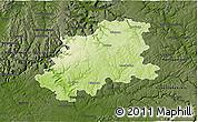Physical 3D Map of Neckar-Odenwald-Kreis, darken