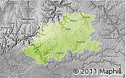 Physical 3D Map of Neckar-Odenwald-Kreis, desaturated
