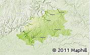 Physical 3D Map of Neckar-Odenwald-Kreis, lighten