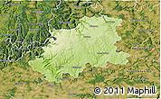 Physical 3D Map of Neckar-Odenwald-Kreis, satellite outside