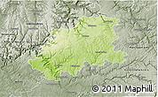 Physical 3D Map of Neckar-Odenwald-Kreis, semi-desaturated