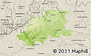 Physical 3D Map of Neckar-Odenwald-Kreis, shaded relief outside