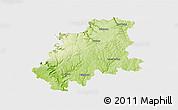 Physical 3D Map of Neckar-Odenwald-Kreis, single color outside