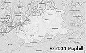 Silver Style 3D Map of Neckar-Odenwald-Kreis