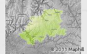Physical Map of Neckar-Odenwald-Kreis, desaturated