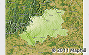 Physical Map of Neckar-Odenwald-Kreis, satellite outside