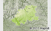 Physical Map of Neckar-Odenwald-Kreis, semi-desaturated