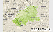 Physical Map of Neckar-Odenwald-Kreis, shaded relief outside