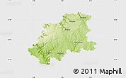 Physical Map of Neckar-Odenwald-Kreis, single color outside