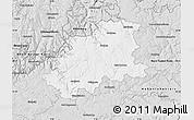 Silver Style Map of Neckar-Odenwald-Kreis