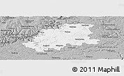 Gray Panoramic Map of Neckar-Odenwald-Kreis