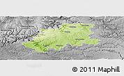 Physical Panoramic Map of Neckar-Odenwald-Kreis, desaturated