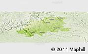 Physical Panoramic Map of Neckar-Odenwald-Kreis, lighten