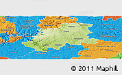 Physical Panoramic Map of Neckar-Odenwald-Kreis, political outside
