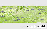 Physical Panoramic Map of Neckar-Odenwald-Kreis