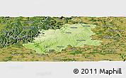 Physical Panoramic Map of Neckar-Odenwald-Kreis, satellite outside