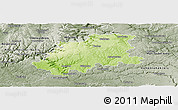 Physical Panoramic Map of Neckar-Odenwald-Kreis, semi-desaturated